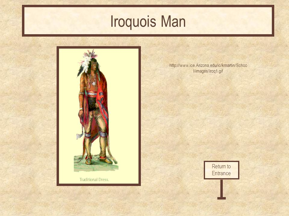 Iroquois Man Return to Entrance