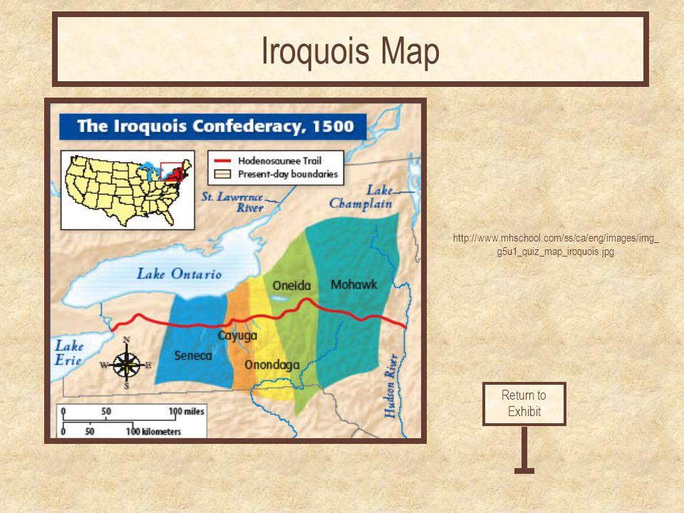 Iroquois Map Return to Exhibit