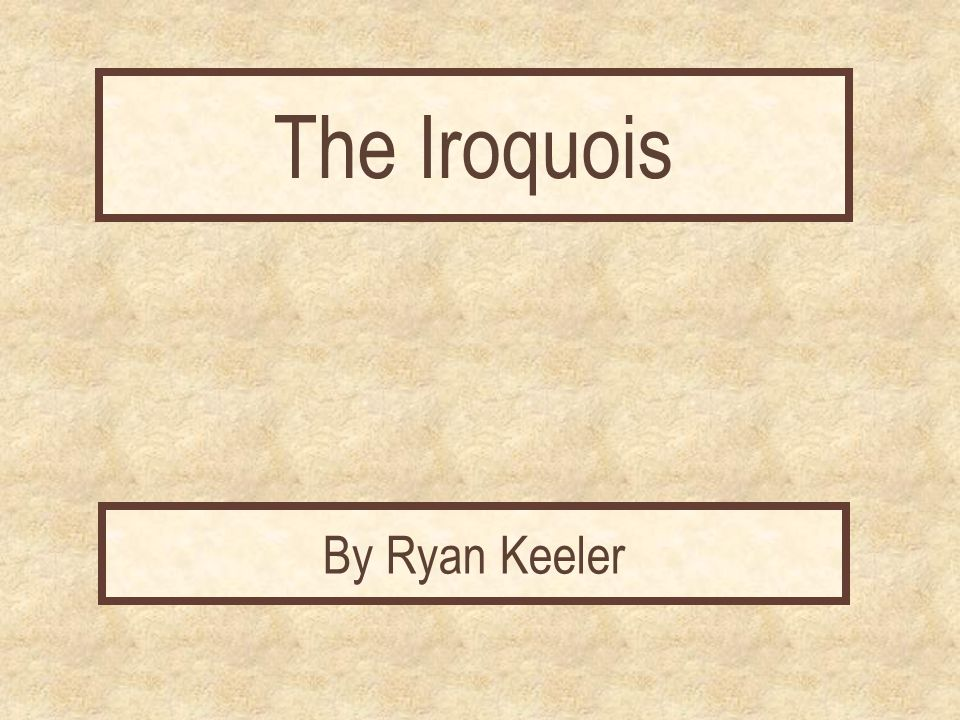 Report Cover Page The Iroquois By Ryan Keeler