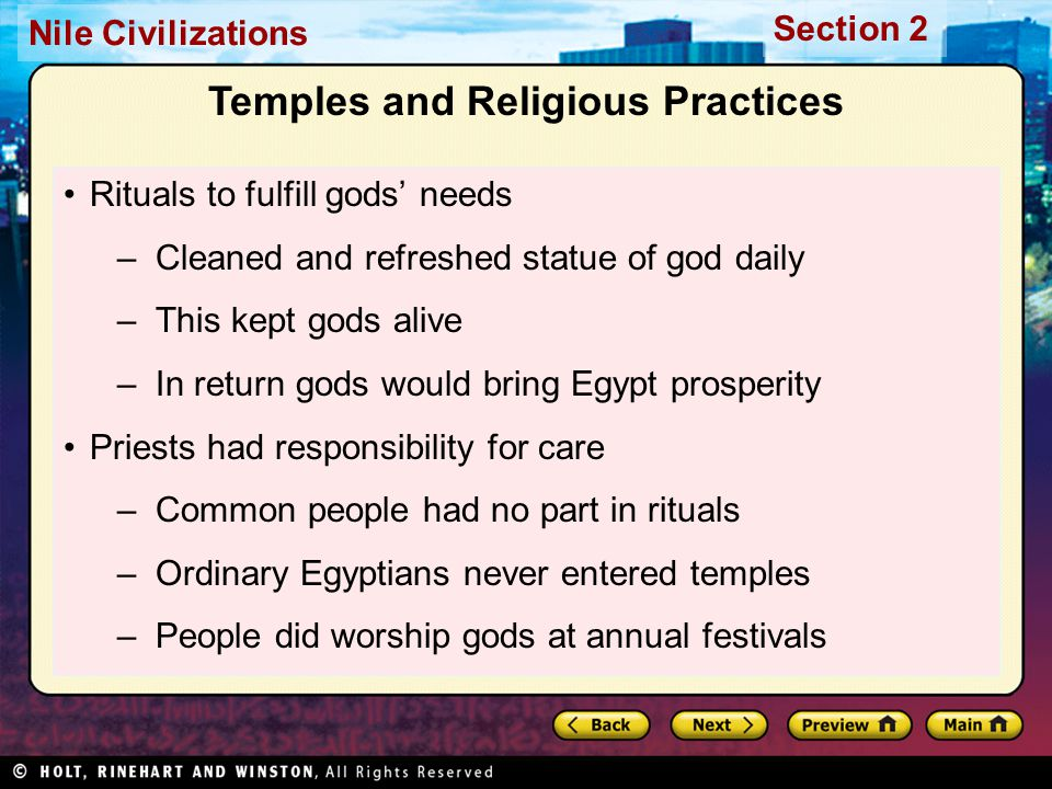 Temples and Religious Practices