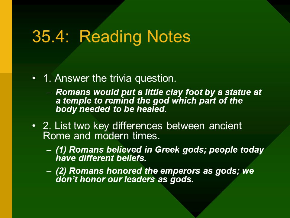 35.4: Reading Notes 1. Answer the trivia question.