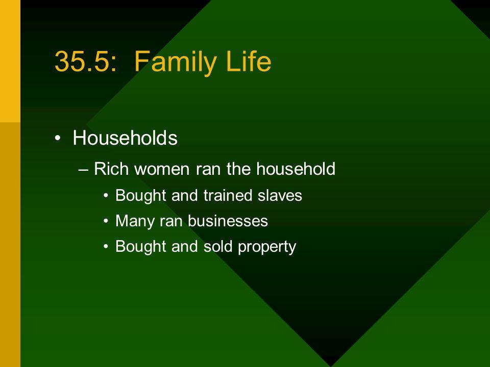 35.5: Family Life Households Rich women ran the household
