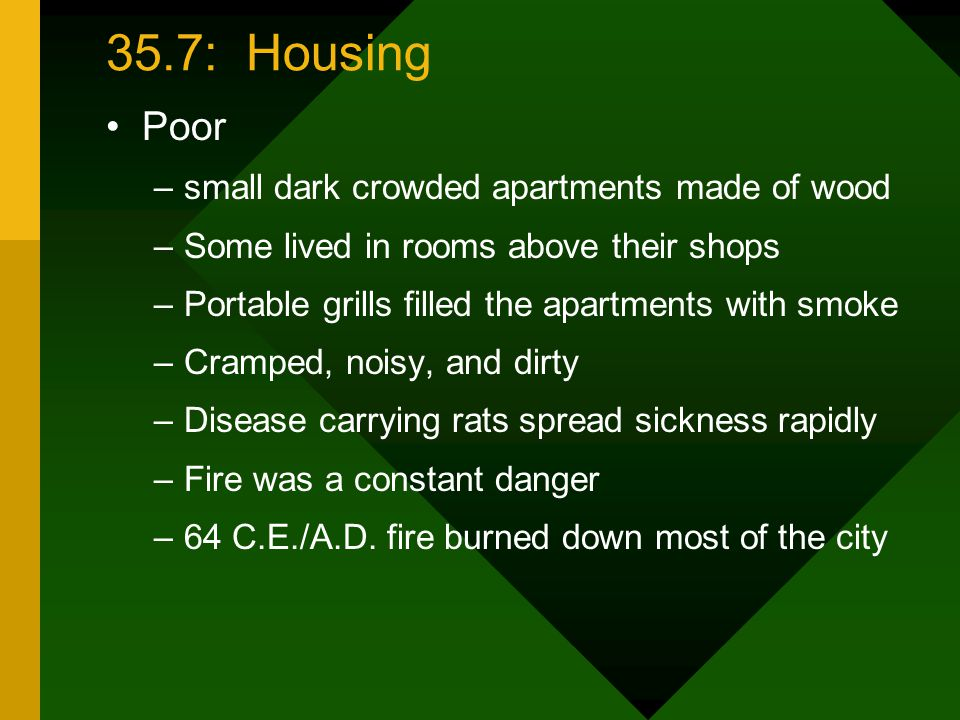35.7: Housing Poor small dark crowded apartments made of wood