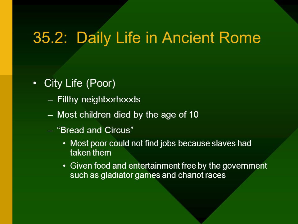 35.2: Daily Life in Ancient Rome