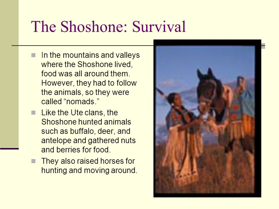 The Shoshone: Survival