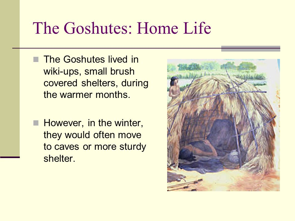 The Goshutes: Home Life