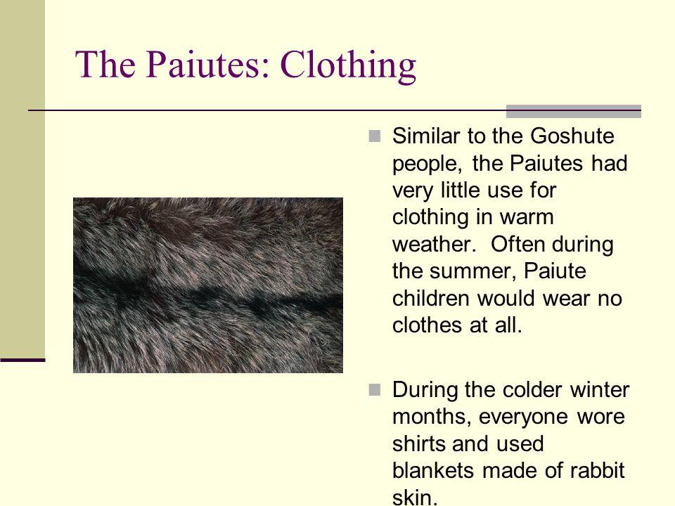 The Paiutes: Clothing