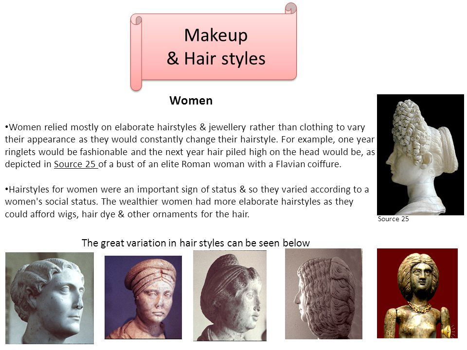 The great variation in hair styles can be seen below