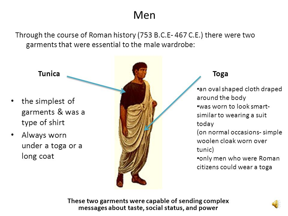Men the simplest of garments & was a type of shirt