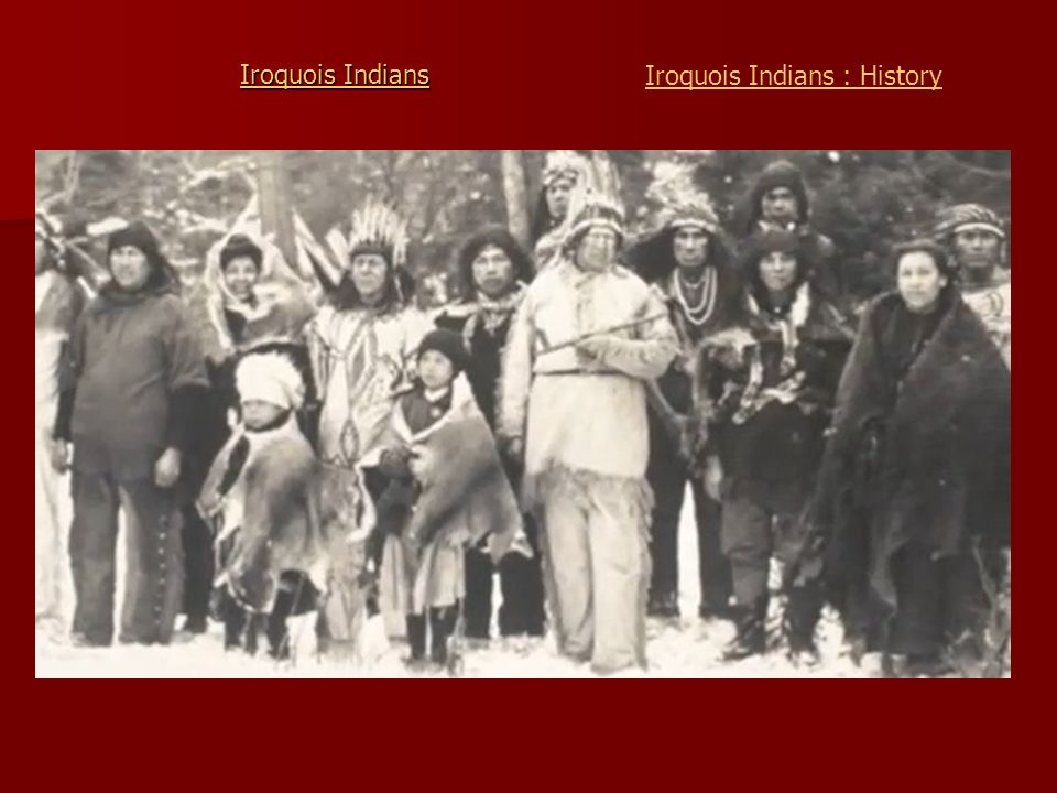 Iroquois Indians Iroquois Indians : History