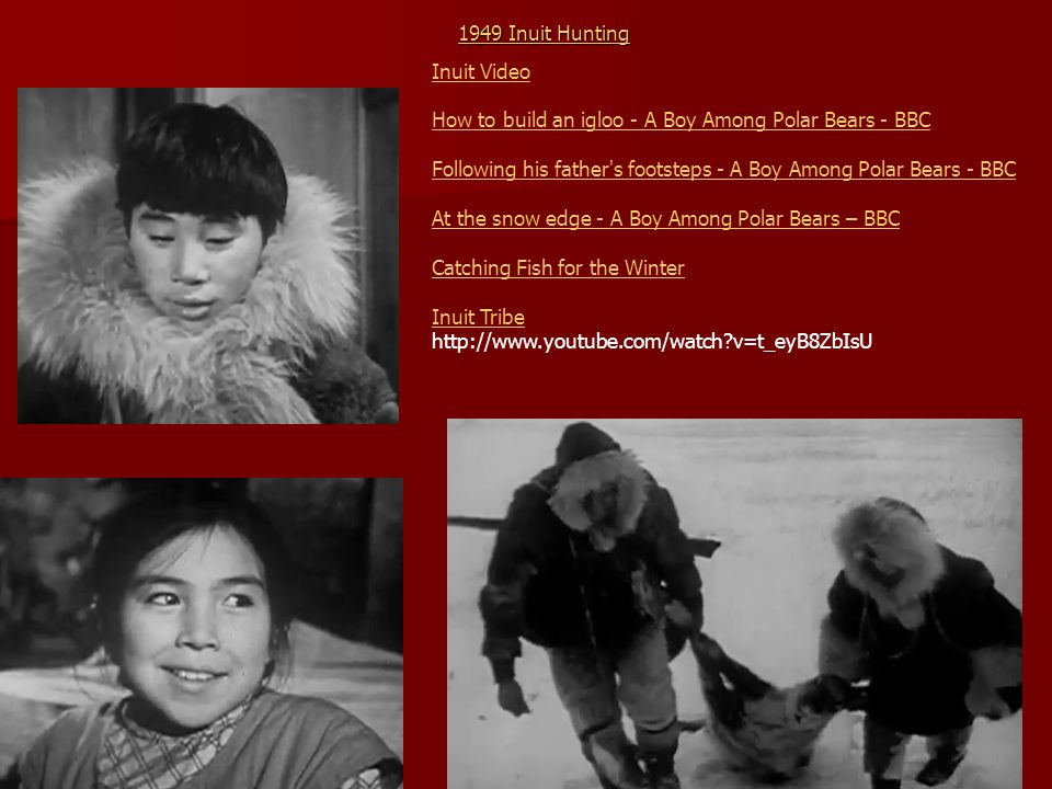 1949 Inuit Hunting Inuit Video. How to build an igloo - A Boy Among Polar Bears - BBC.