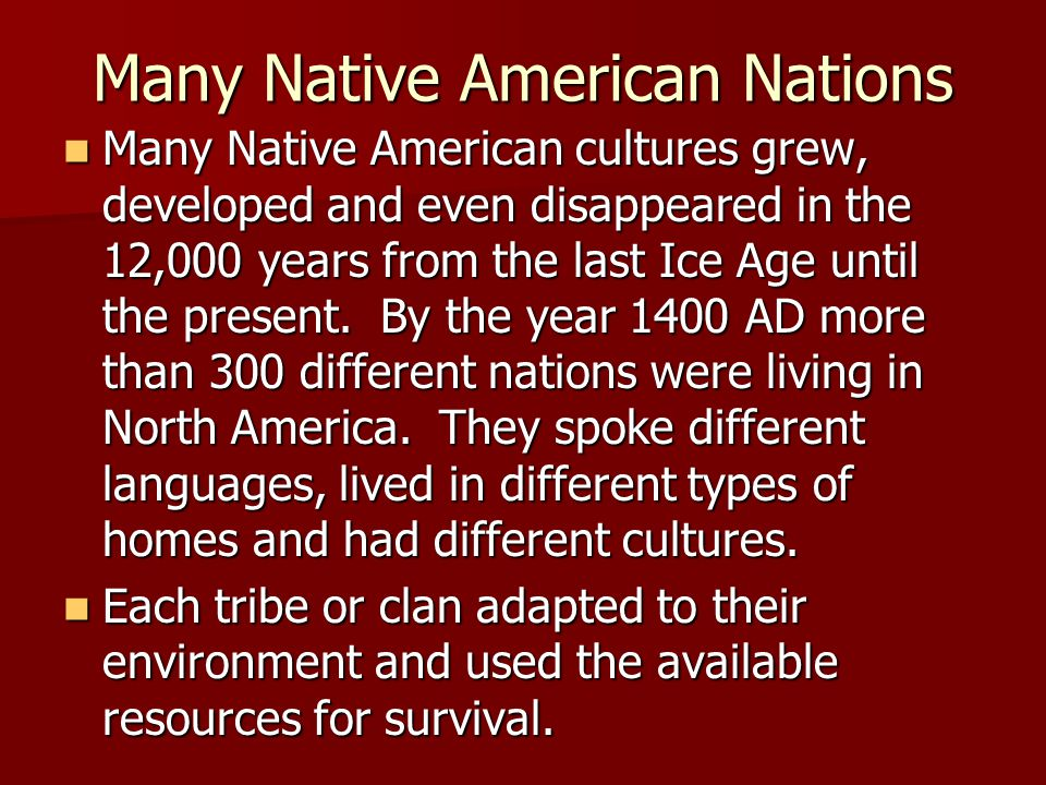 Many Native American Nations