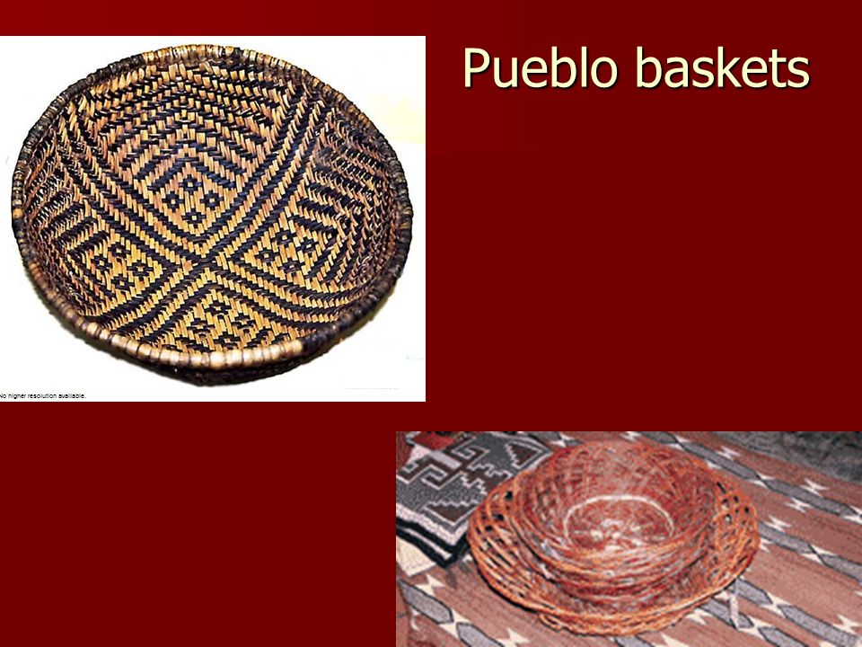 Pueblo baskets