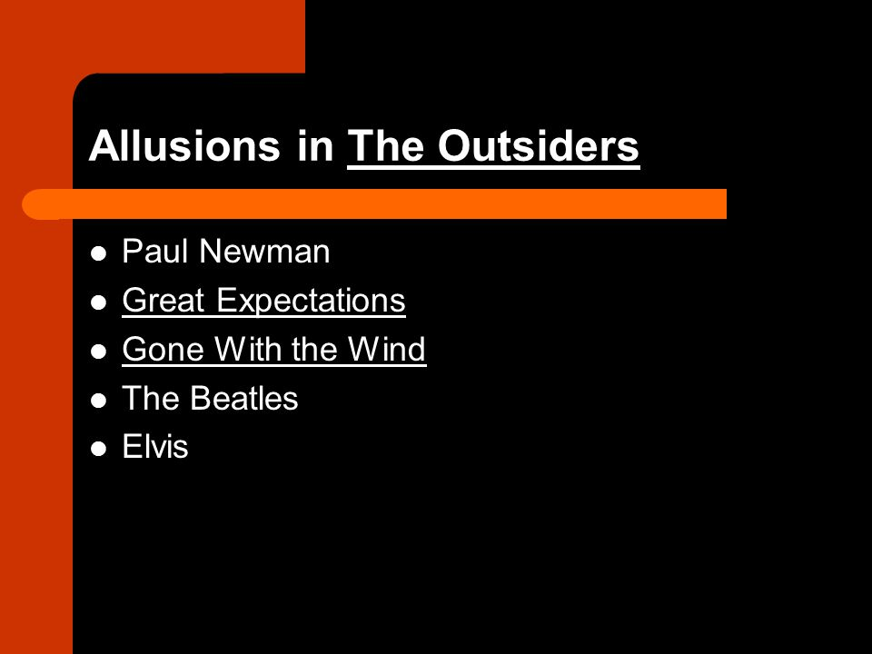 Allusions in The Outsiders