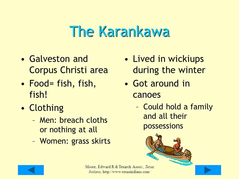 The Karankawa Galveston and Corpus Christi area