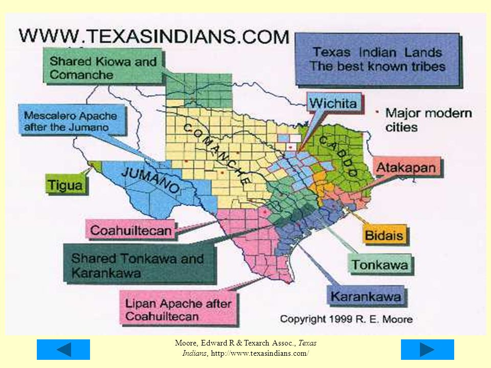 Here is a map of the most well-known Native Texans