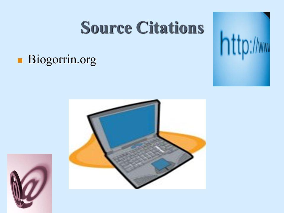 Source Citations Biogorrin.org