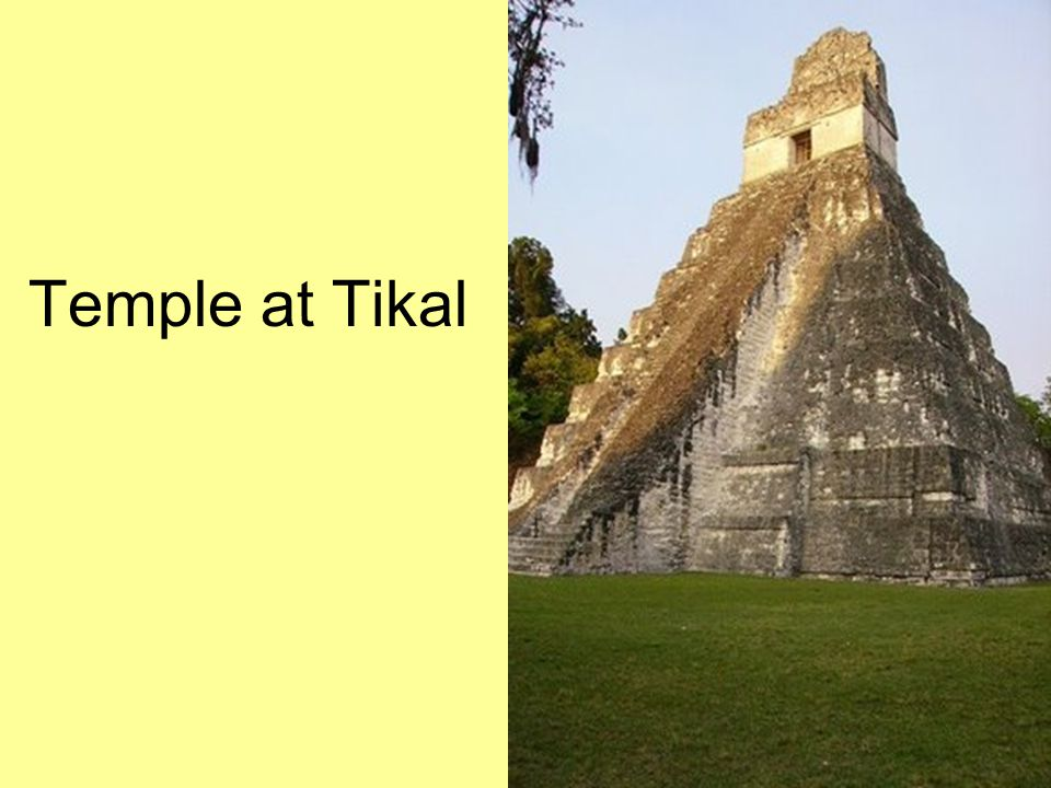 Temple at Tikal