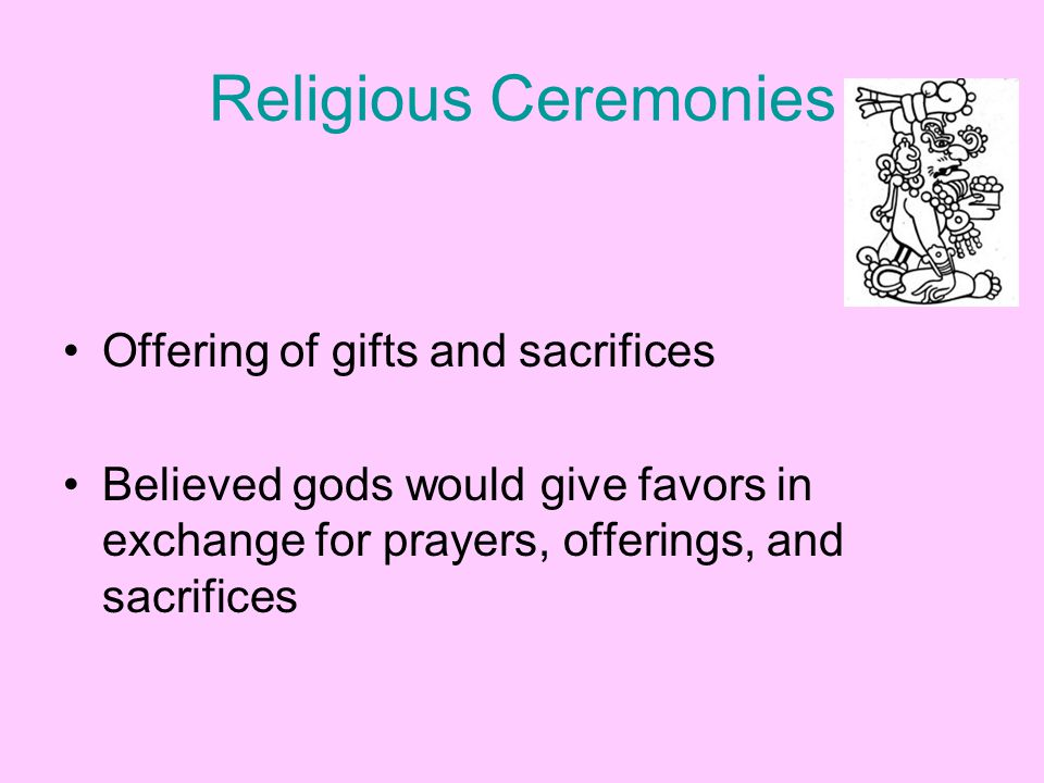 Religious Ceremonies Offering of gifts and sacrifices