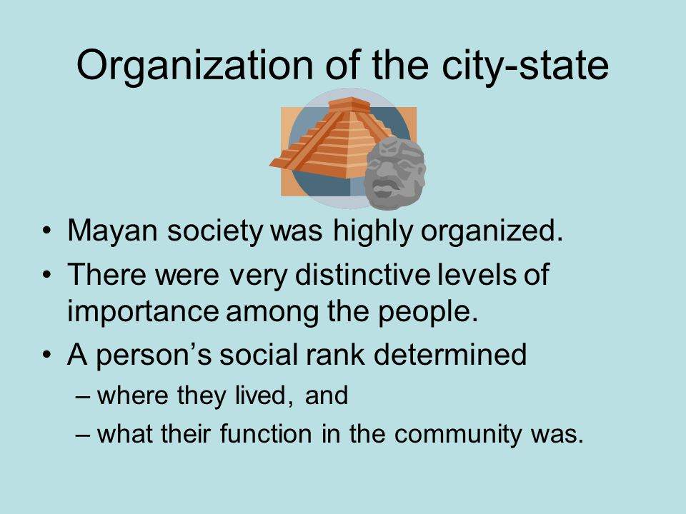 Organization of the city-state