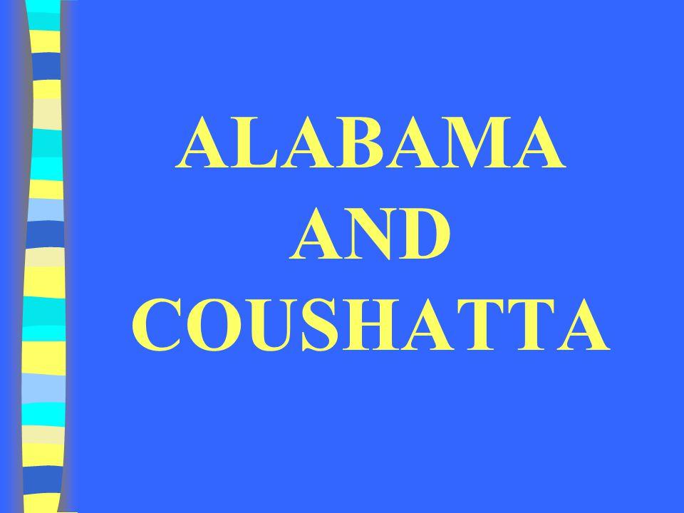 ALABAMA AND COUSHATTA