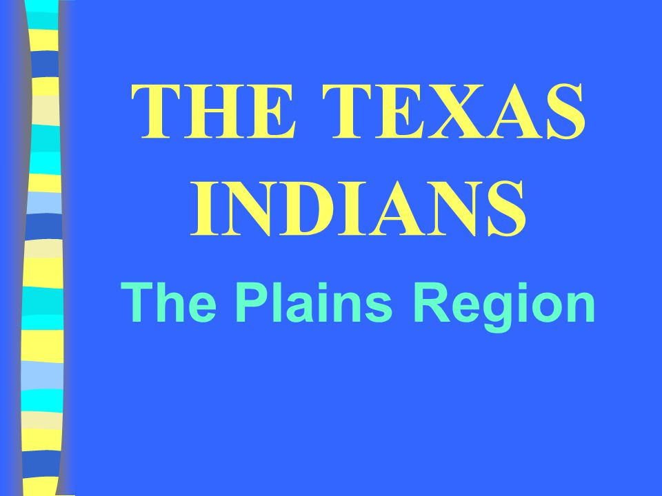 THE TEXAS INDIANS The Plains Region