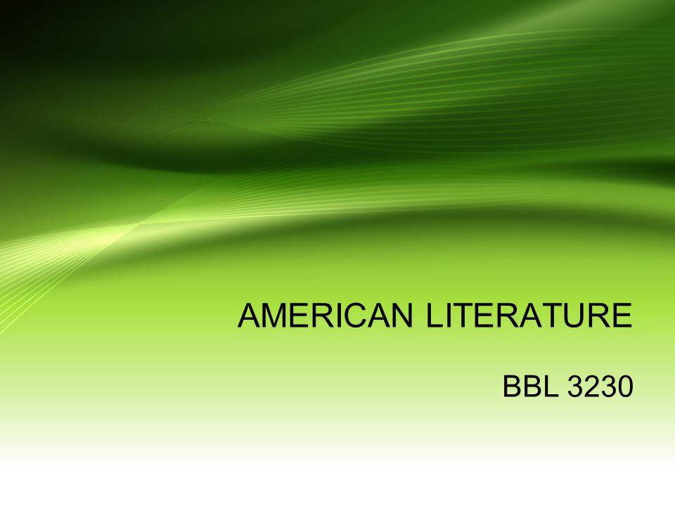 AMERICAN LITERATURE BBL 3230