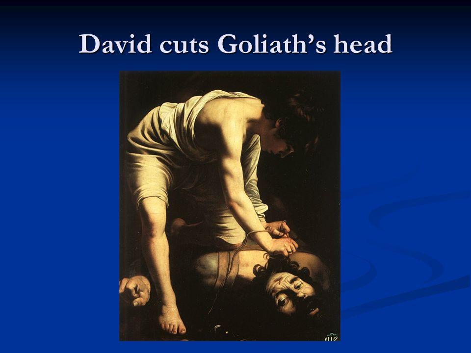David cuts Goliath's head