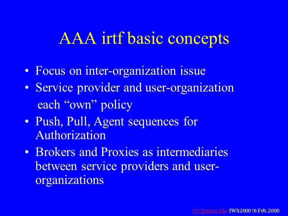 AAA irtf basic concepts