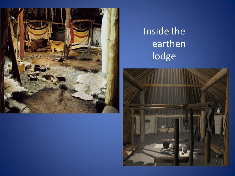 . Inside the earthen lodge