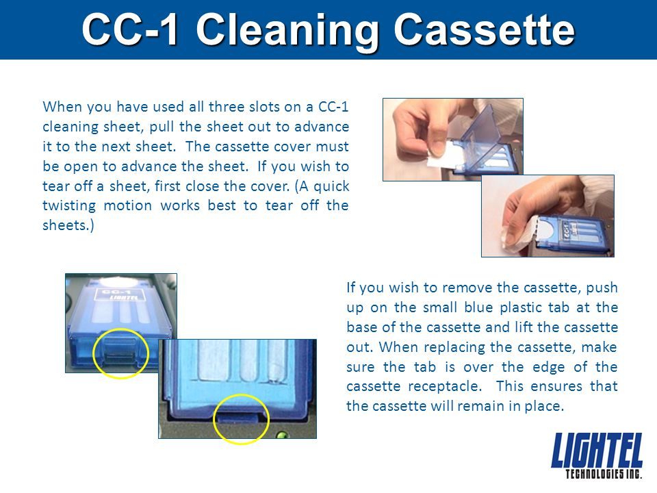 CC-1 Cleaning Cassette