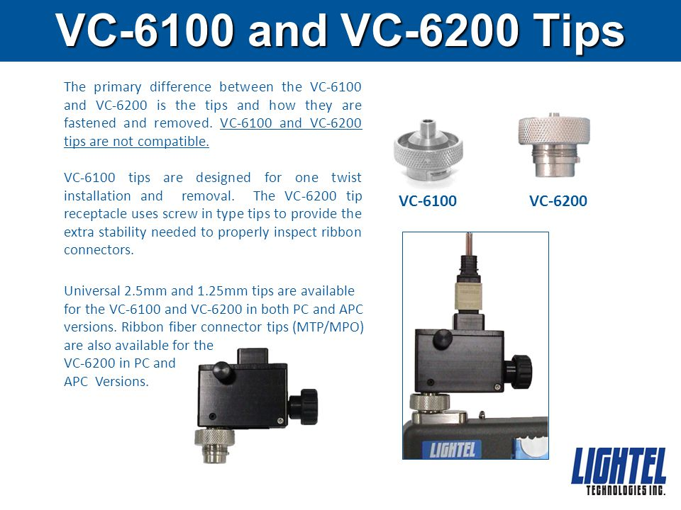 VC-6100 and VC-6200 Tips
