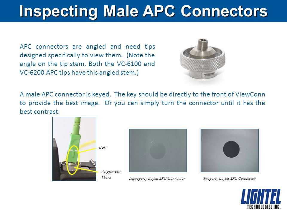 Inspecting Male APC Connectors