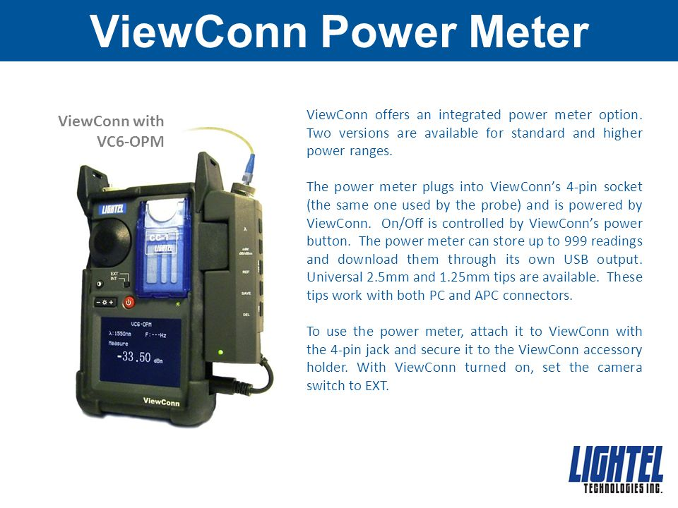 ViewConn Power Meter ViewConn with VC6-OPM