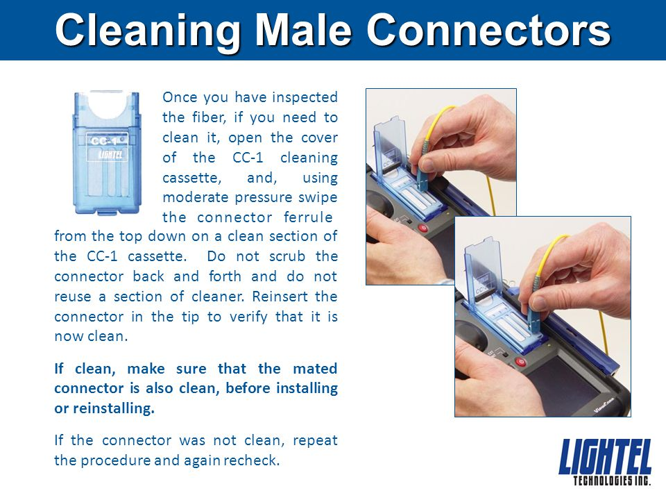 Cleaning Male Connectors