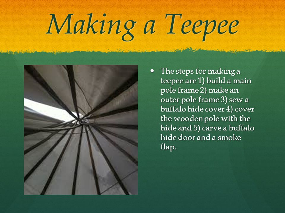 Making a Teepee