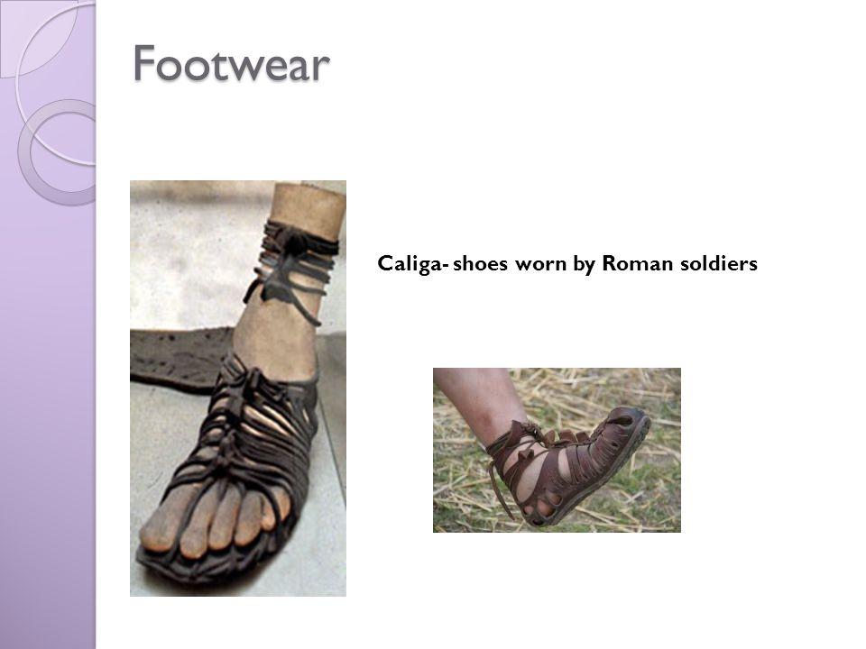 Footwear Caliga- shoes worn by Roman soldiers
