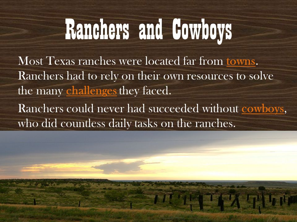 Ranchers and Cowboys