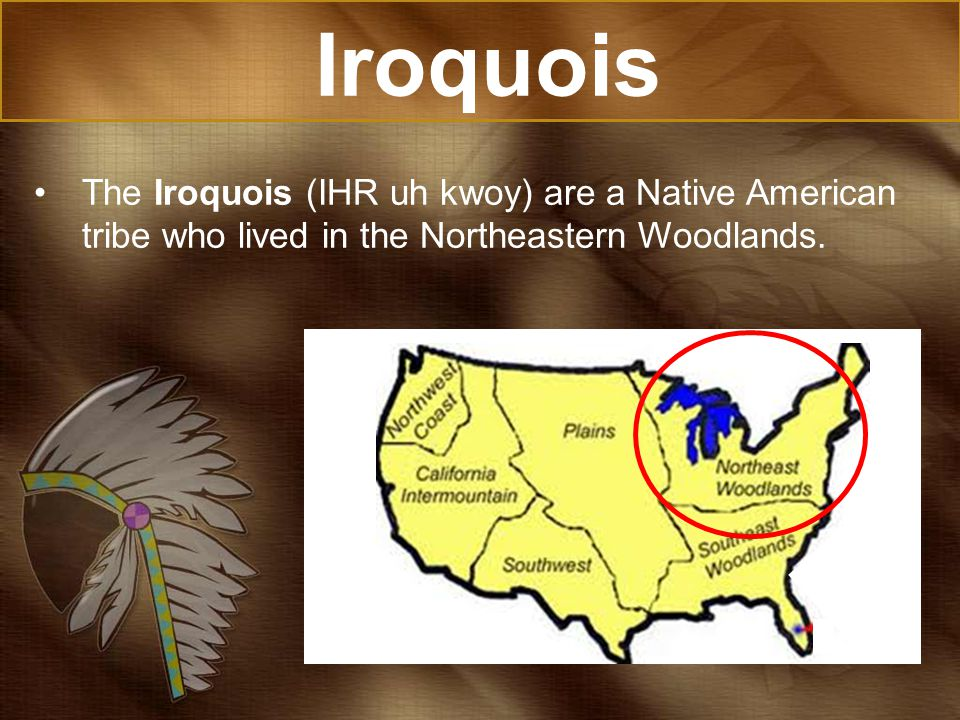 Iroquois The Iroquois (IHR uh kwoy) are a Native American tribe who lived in the Northeastern Woodlands.