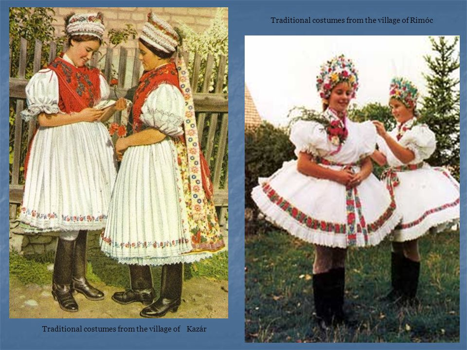 Traditional costumes from the village of Kazár