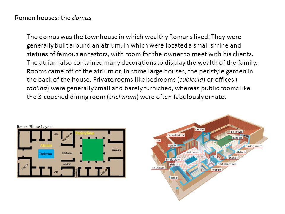 Roman houses: the domus