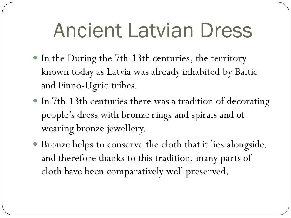 Ancient Latvian Dress