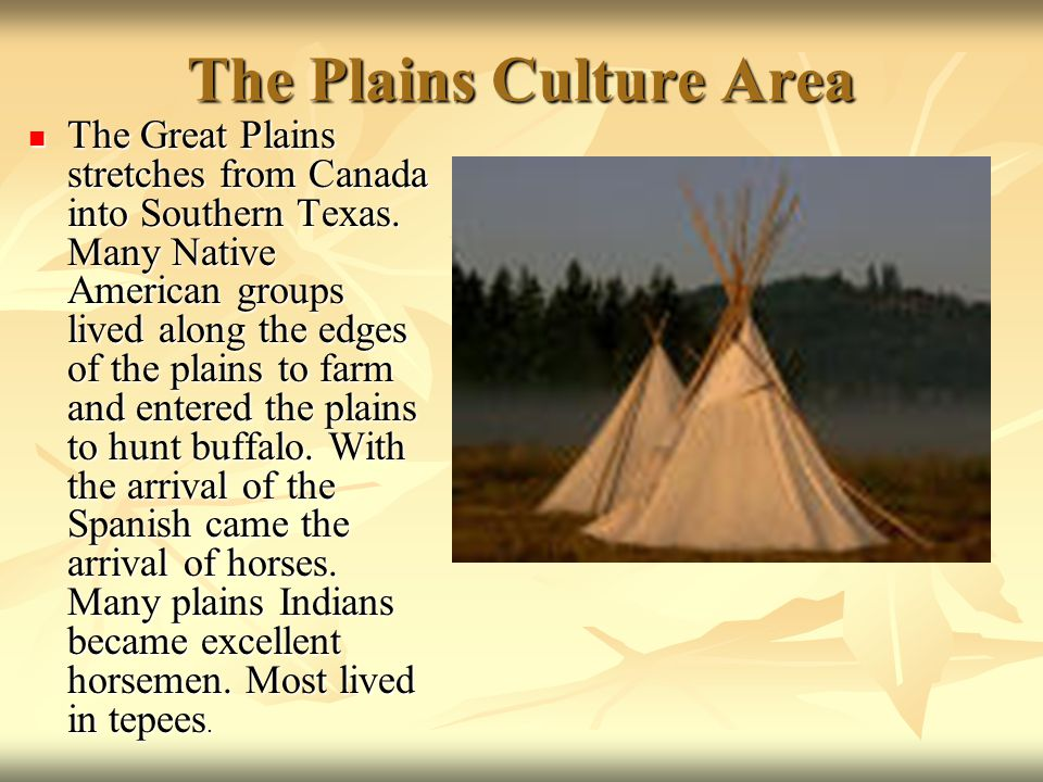 The Plains Culture Area