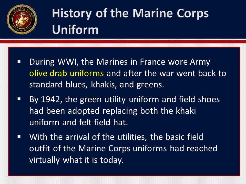 History of the Marine Corps Uniform