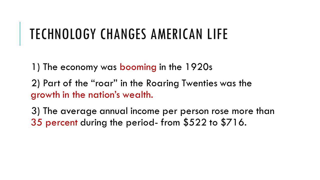 Technology Changes American Life