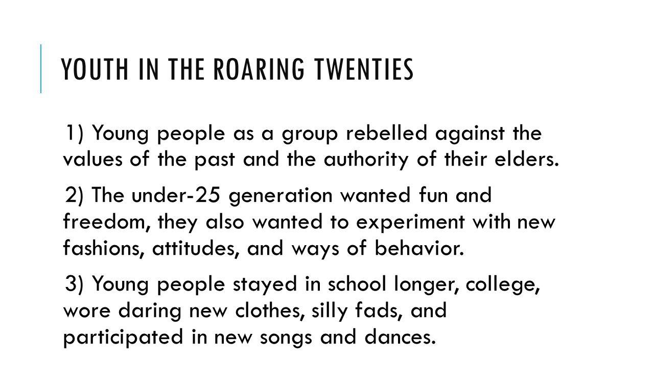 Youth in the Roaring Twenties