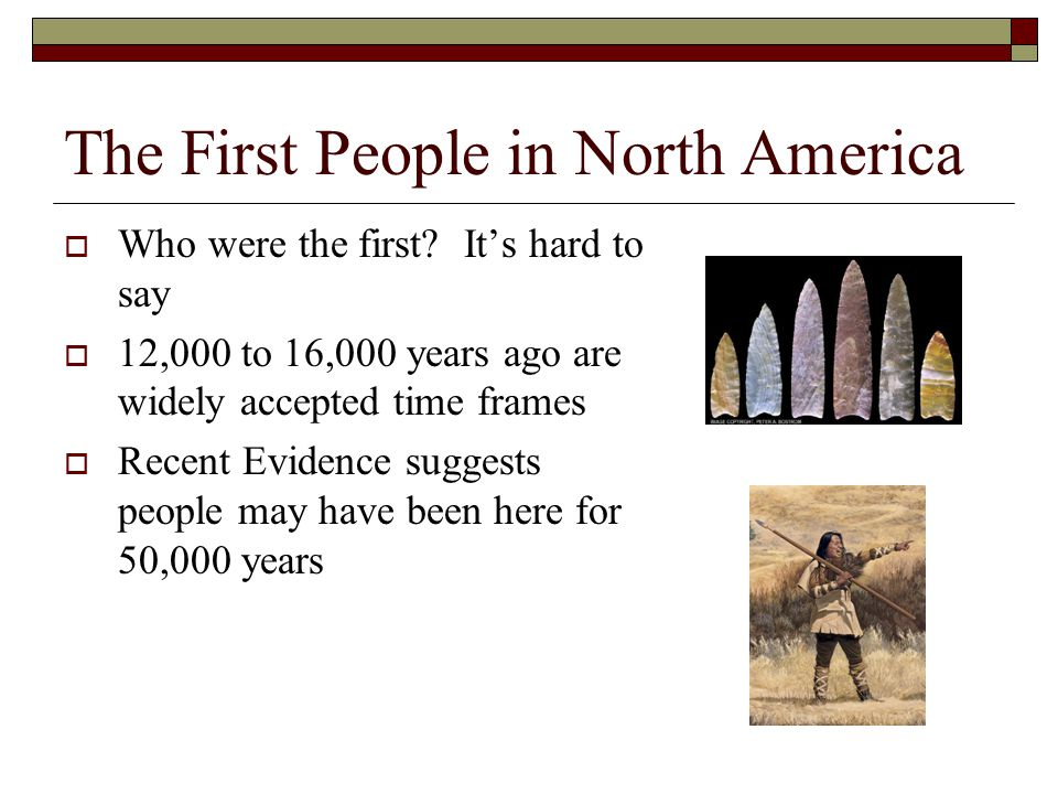The First People in North America