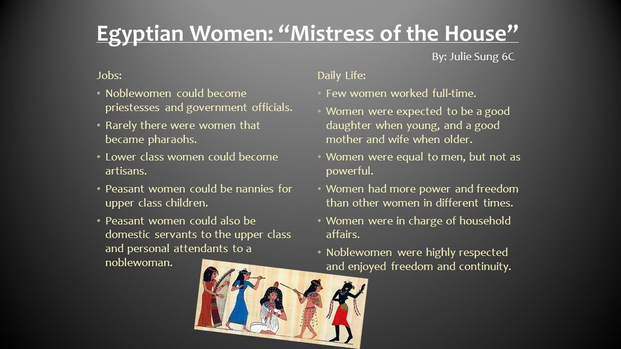 Egyptian Women: Mistress of the House