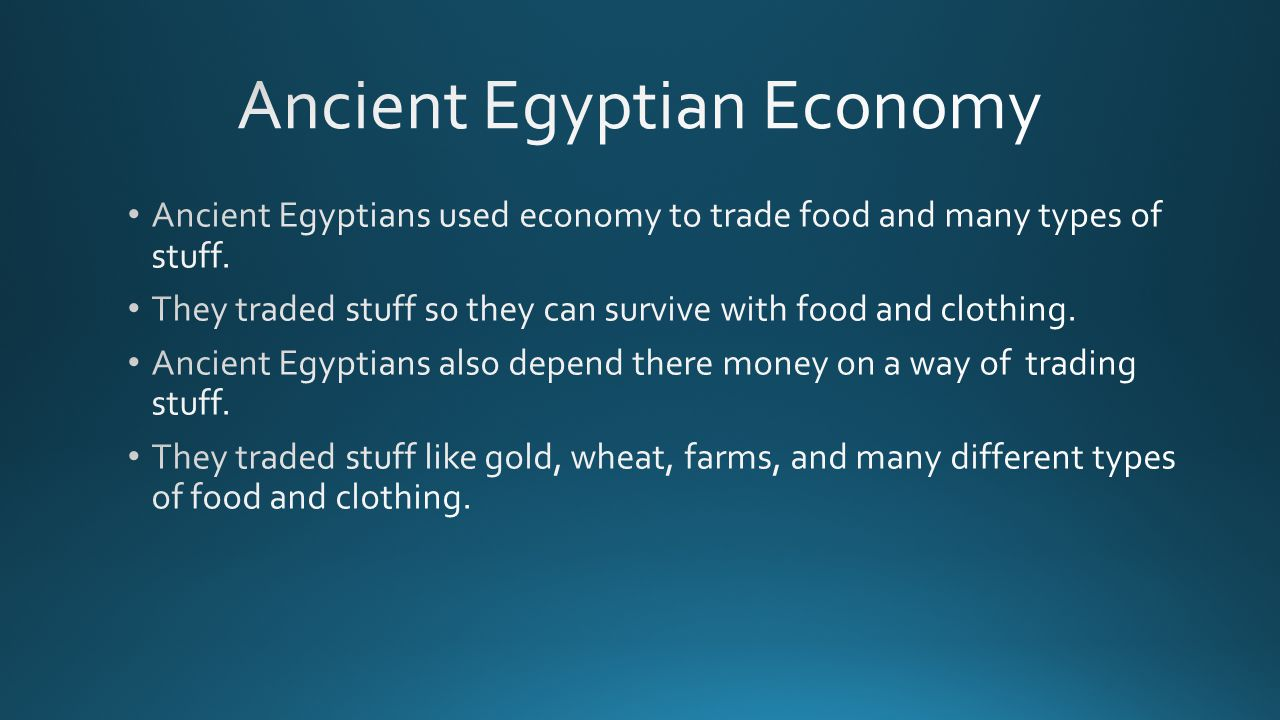 Ancient Egyptian Economy