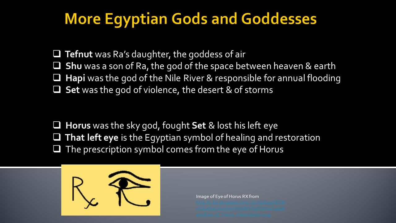 More Egyptian Gods and Goddesses